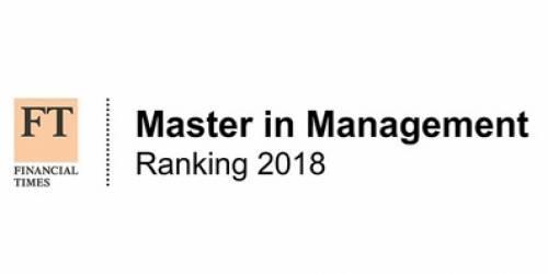 2018年Financial Times 世界最佳Master in Management排名